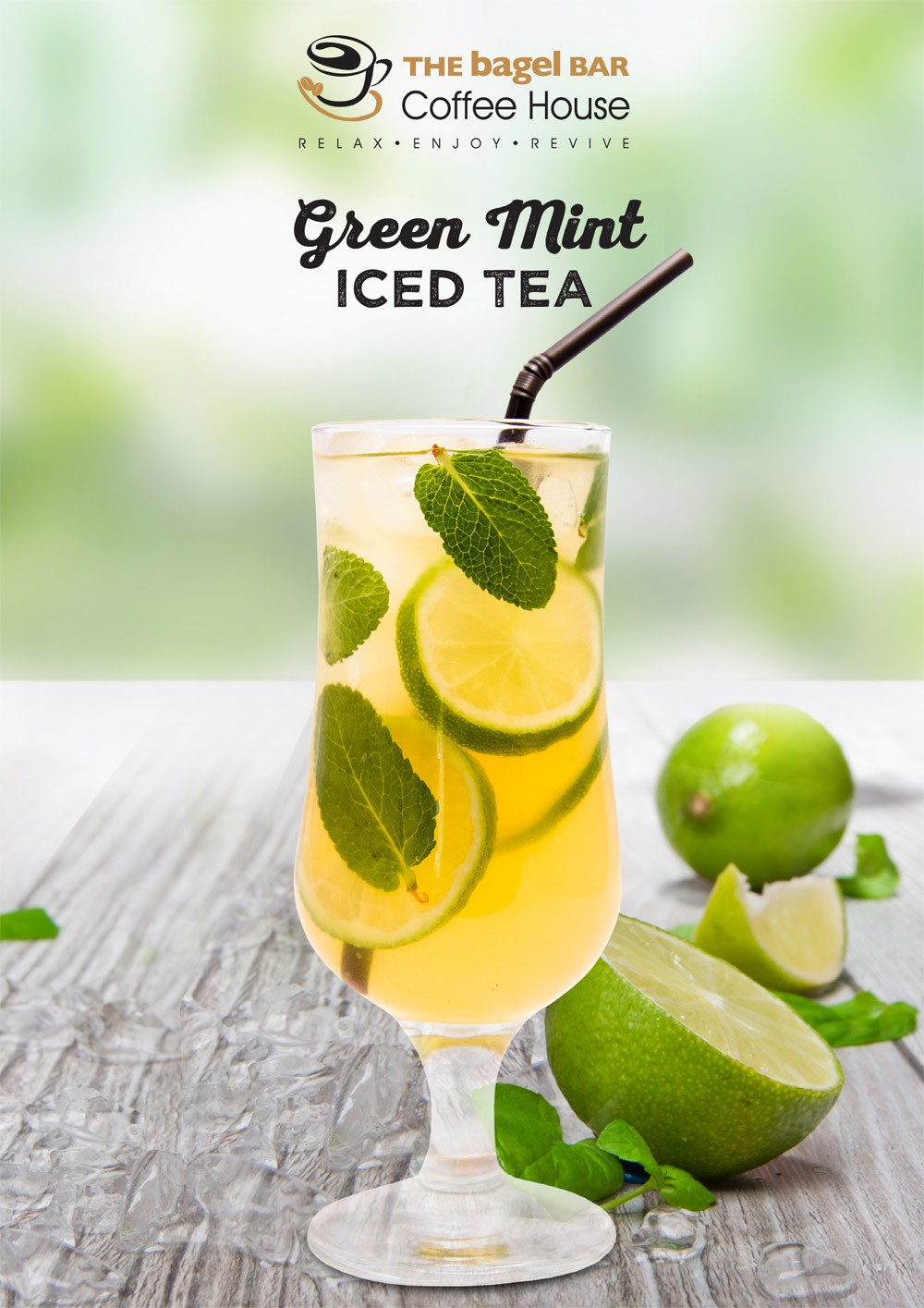 Green Mint Iced Tea
