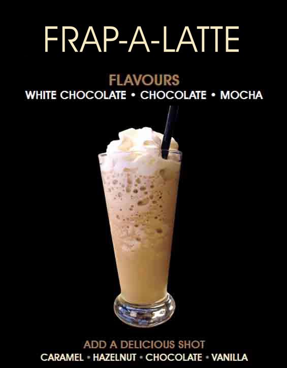 Iced Coffee Menu