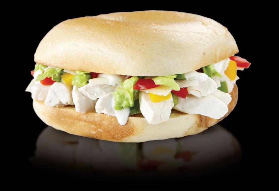 Chicken Caesar bagel